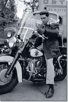 ~**Elvis on a Police Motorcycle - on the set of his movie Kid Galahad 1962