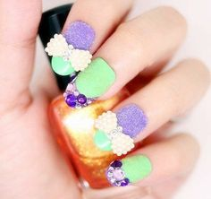 Girl diamond velvet Nail