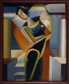 'Woman with a Fan II' (1915) by Olexandr Archipenko