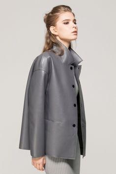Leather look vintage jacket