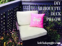 Add a bit of dog friendly fun to your deck with this easy, DIY Dog Silhouette Pillow made from waterproof PUL fabric.The custom silhouette makes it a great project for people with mixed breeds and rare breeds.