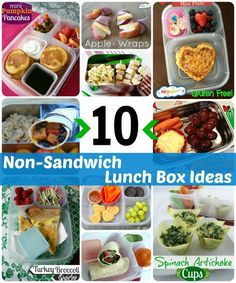 10 non-sandwich school lunch ideas your kids will love via MOMables.com #schoollunch #lunchbox #mealplan