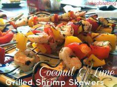 TAKE A BITE OUT OF BOCA: Coconut and Lime Grilled Shrimp Skewers for #SundaySupper