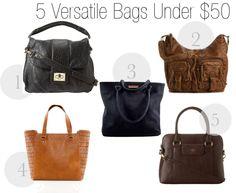 5 Versatile Bags Under $50 - Savvy Sassy Moms