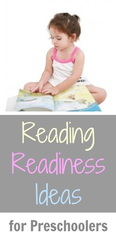 Reading Readiness for 3 Year Old Children