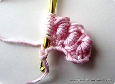 Scuola uncinetto: punto avvolto (bullion stitch)