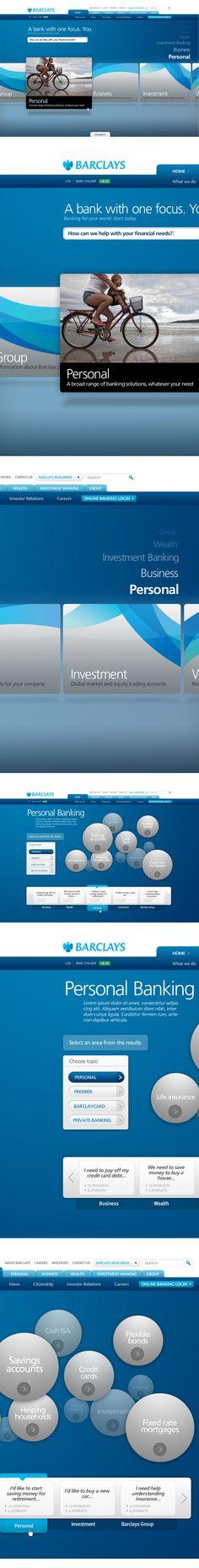 Barclays.com by Thomas Moeller, via #Behance #Webdesign