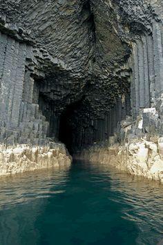 Fingal's Cave, on the island of Staffa off the west coast of Scotland