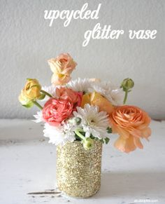 DIY Glitter Jars :  wedding decor diy kyoto tutorial Glitter Vase glitter-vase