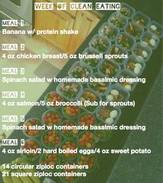 Trying this experiment this week.  Prepping all food and freezing for the week.