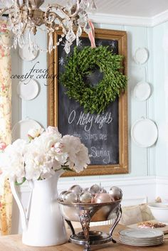 FRENCH COUNTRY COTTAGE: Decking the halls @Courtney Baker Baker Baker Baker French Country Cottage
