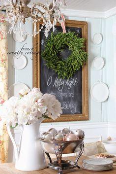 courtney baker, country cottages, deck the halls, countri cottag, baker baker, wreath, chalkboard, cottage homes