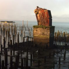 The only thing left from the fish factory- Astoria, Oregon