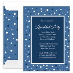 Starry Border Invitations