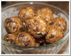 no bake chocolate chip peanut butter balls!