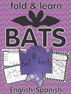 Bats fold & learn activity $ English and Spanish