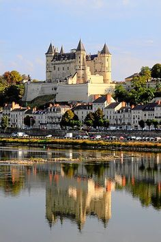 The Château de Saumur, between the Loire and Thouet rivers, France