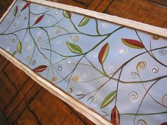 Hand Painted....table runner.  These are lovely....