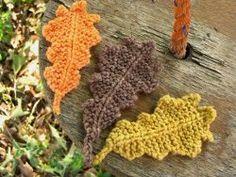 Garter Stitch Oak Leaves for garlands or table decorations.