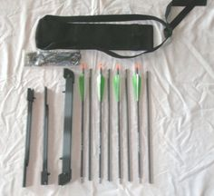 Survival Kits : Super Compact Take-Down Nomad Survival Bow and Arrow