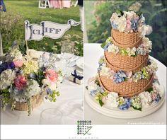 basket weav, wedding white, wedding cakes, baskets, basket cake