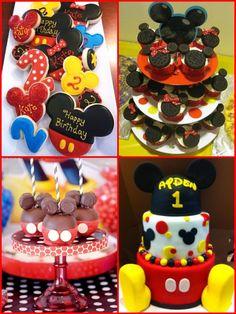 Cute Mickey & Minnie birthday ideas..