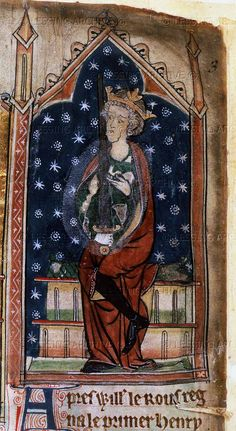 King Henry I of England (1068-1135). Father of Empress Matilda and Grandfather of King Henry II of England