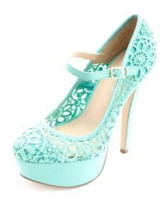 Crochet Lace Mary Jane Platform Pumps: Charlotte Russe