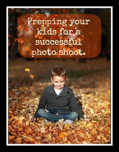 Great tips on prepping your kids before a photo shoot to get the best family portraits.