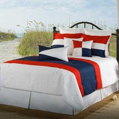 Victor Mill Latitude Red White Navy Bedding By Victor Mill Bedding, Comforters, Comforter Sets, Duvets, Bedspreads, Quilts, Sheets, Pillows: The Home Decorating Company