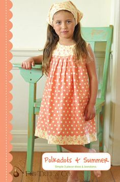 "DIY Girls dress. ""Very easy Pattern. I've made my girls a couple of these dresses. Great with a long sleeve top and boots for winter or even a nightgown in the summer."""