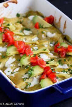 Grilled Vegetable Enchiladas Recipe {Gluten-Free} | cookincanuck.com #vegetarian