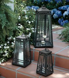 I own the two bigger Zinc Lanterns.  Love them!
