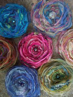 Singed Flower Pins