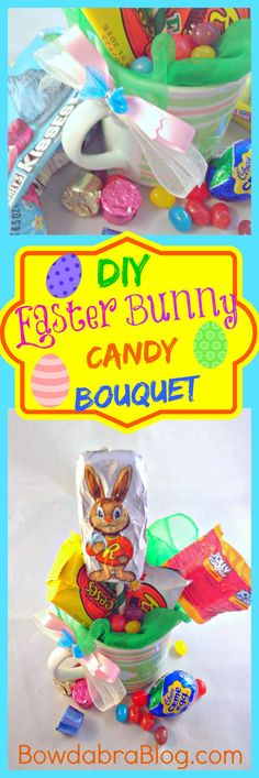 DIY Easter Bunny Candy Bouquet