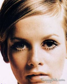 Twiggy- 60's fashion icon :) how I wanted to look like her!