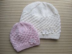 Adorable hat pattern available in two sizes. The stars stitch is quite easy and looks very attractive on a girl of any age. The hat is worked flat and sewn at the back.
