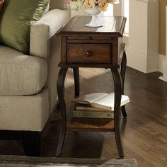 14.75W x 24.75D x 26H  Riverside Serena Chairside Table - Wood Top - $362.25 @hayneedle
