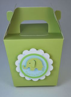 Elephant Baby Shower or Birthday Party Favor Tags - Peel and Stick - Blue and Green - Boy. $18.00, via Etsy.
