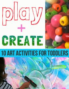 10 art activities for toddlers