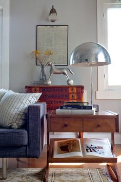That cabinet at the back with the horse on it (Emily Henderson — Stylist - BLOG - FDR Chic - a dude's mix of antique, mid-century and bohemian style)
