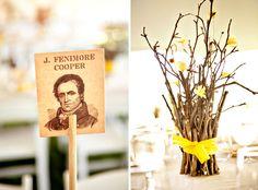 Yellow Wedding Table Centerpieces