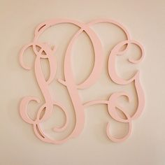 Perfect art for the nursery – a monogram!