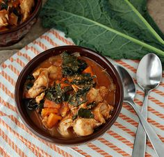 Chicken, Kale and Sweet Potato Stew