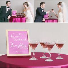 Radiant Orchid Martini via StyleUnveiled.com / Radiant Orchid Wedding