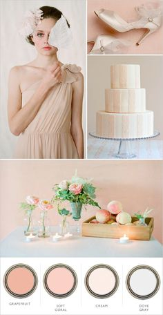 Blush pink wedding  ... Wedding ideas for brides & bridesmaids, grooms & groomsmen, parents & planners ... https://itunes.apple.com/us/app/the-gold-wedding-planner/id498112599?ls=1=8 … plus how to organise an entire wedding, without overspending ♥ The Gold Wedding Planner iPhone App ♥