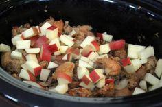 Slow Cooker Sausage Apple Stuffing