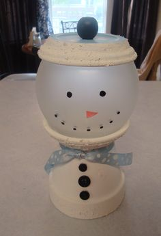 Snowman Gumball Candy Dish by AbsoluteImagination on Etsy, $11.99