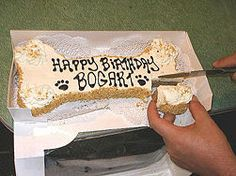 Dog birthday cake recipe.