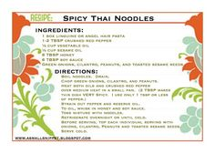Spicy Thai Noodles | A Small Snippet